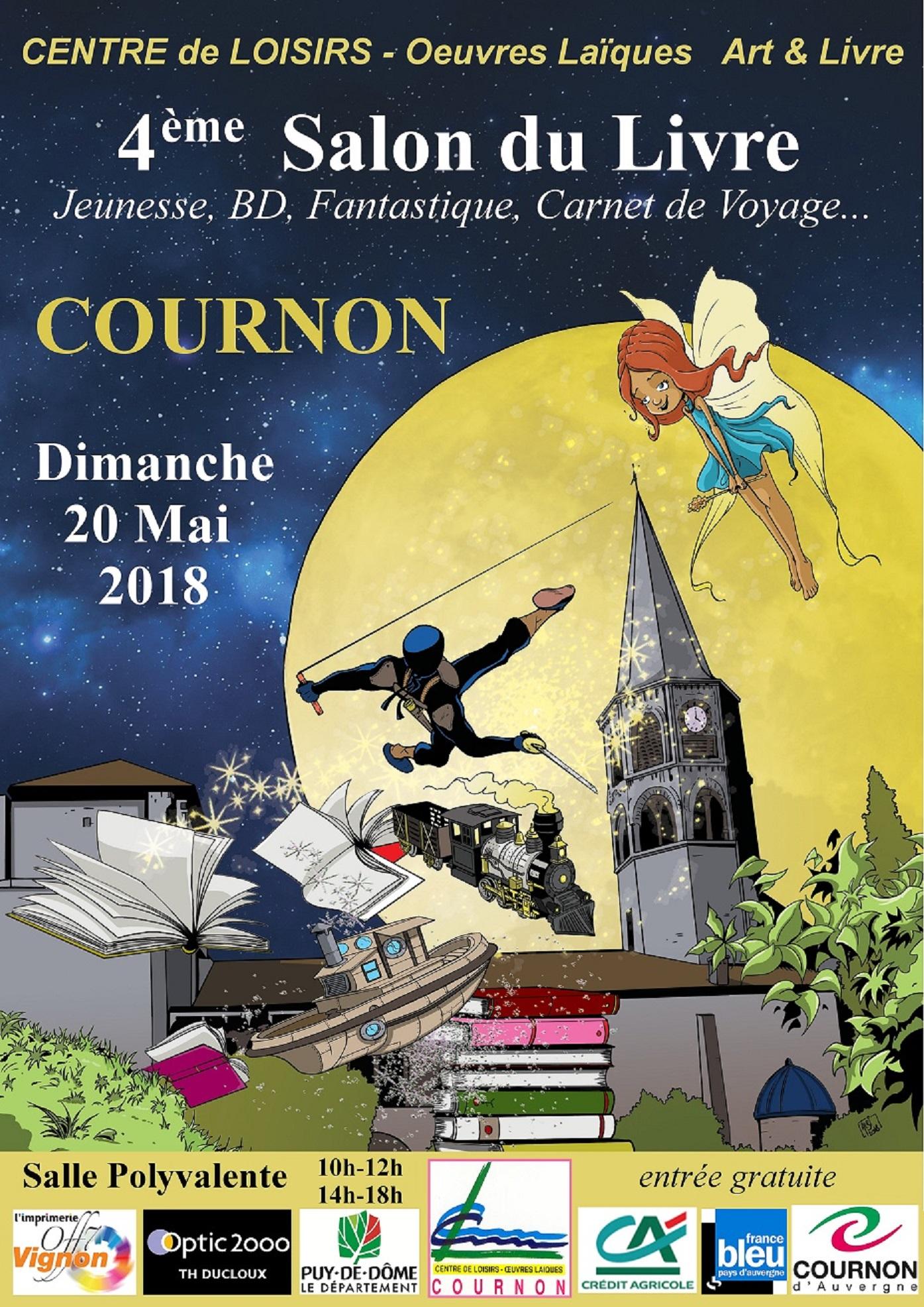 Salon du livre de Cournon le 20 en mai 2018
